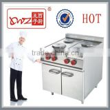4 round burners electric cooking range with cabinet