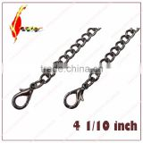 47 inch decration metal jewelry chain bags handle for bags/costume/purse chain with hooks