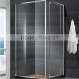 Shower enclosure with 6mm thickness tempered curved glass hinge open door
