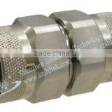 stainless steel adaptor for 6 Ghz frequency of N connector types of cable joints with coaxial cable price