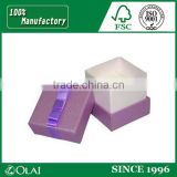 elegant purple ribbon paper ring storage for girl