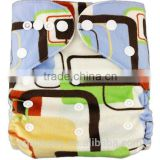 China manufacturer ultra soft breathable printed anime cloth diaper