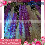 Wholesale wedding roof and wall decorative 190 cm long artificial wisteria flower                                                                                                         Supplier's Choice