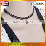 Latest Design Goth Black Lace Ribbon Pearl Gothic Tattoo Choker Necklace Jewelry