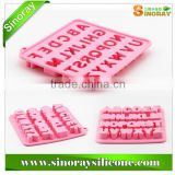 Various shapes alphabet chocolate silicone mould