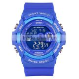Fashion Sport Super Cool Men's Quartz Blue Men Watch With Chronograph Digital Waterproof Sports Watch