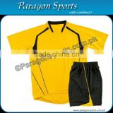 Yellow and Black Soccer Uniform