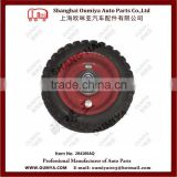 High strength anti-corrosion galvanize Trailer jack with rubber wheel 284160AQ