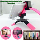 Oversea-stocked alternatvie Colorful Mini foldable Tripod Stand Clip Mount for all cellphones,pads,ipad mini