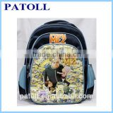 New style despicable me minion school backpack