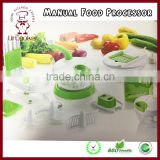 Hot selling Multifunction Hand-Powered Food Chopper/ Mincer / Blender to Chop Fruits, Vegetables, Nuts, Herbs, Onions, Garlics