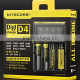 Nitecore Authorized distributor NiteCore D4 charger 18650 battery charger with UK plugs Eu plugs