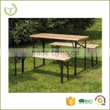 New arrival hard wood beer garden table and bench for outdoor use                                                                         Quality Choice