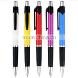 Cheap Plastic ball pen with skid resistance rubber grip                                                                         Quality Choice