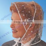 Waterproof PE rain bonnet, disposable plastic rain cap, rain hat