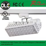 CE Rosh 2, 3, 4 wires adjustable black /white housing led track lights ,led rail light 70w