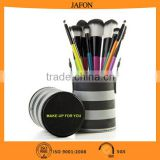 Newest product 10pcs colorful handle and hairs travel cylinder brush sets                                                                         Quality Choice