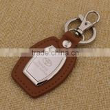 Brown leather keychain/ epoxy sticker car keychain custom                                                                                                         Supplier's Choice