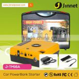 2 in 1 portable car jump starter with air pump 16800mAh li-polymer power bank for laptops phones