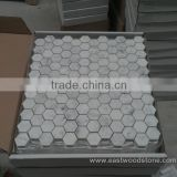 White marble mosaic Hexagon Tile