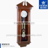 Glass wall clocks with solid wood case Rotating pendulm Mechanical movement CE/FCC standrad MW3619