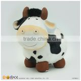 Fur Coating Ceramic Decoration Cow Statue for Sale