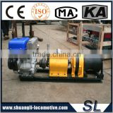 China Factory Gasoline Speedy Petrol 5 Tons Engine Powered Hoist Winch 5 Tons For The Wild Mountain Construction