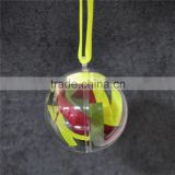 New Year Decoration Clear Transparent Plastic 2 Part Bauble Ball Christmas Tree Ornament