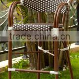 Outdoor aluminum bamboo bar stool, vintage bar chair, leisure restaurant cocktail chair