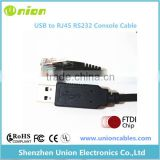 FTDI USB to RJ45 serial RS232 console rollover cable for Cisco routers
