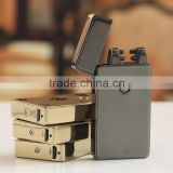 black usb rechargeable dual arc ligter electric cigarette lighter flameless big save