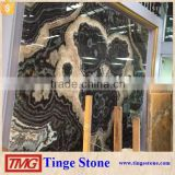 Black ocean vein onyx slabs