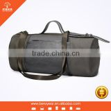 Popular Style Waterproof Nylon Brown with Genuine Leather Roll Shape Long Strap Duffel Bag                                                                         Quality Choice