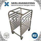 NSF Approval 10-Tier Stainless steel Sheet bread display rack & Pan Rack & Bun Pan Rack