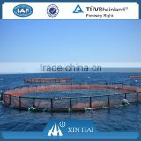 Circle floating aquaculture fish farming cages/HDPE KNOTLESS AQUACULTURE FISH FARMING CAGES