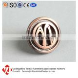 Antique Vintage Custom Round Letter Logo N Metal Decorative Button Snap For Jeans Jackets