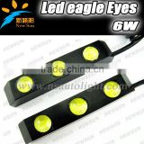 Car accessories auto daytime running light, 6W 12V 6pcs leds eagle eyes universal front lights