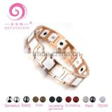 Dongguan Rose gold tungsten jewelry metal bracelet energy balance germanium fashion tungsten bracelet