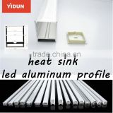 Top supplier China custom aluminum extruded aluminum heat sink for led/ flat aluminum profile for led light bar
