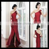 Mo1014 Red dress for mother of the bride one shoulder sexy tall mother of the bride dresses 2014
