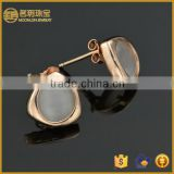 925 silver stud earrings with opal fashionable jewelry gold plated fashion earring china manufacturer jewellery wholesale