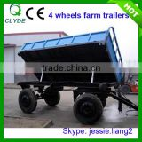 Double axle dump trailer 8 Ton farm tipping trailer for tractor