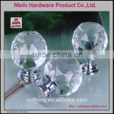 kitchen and bathroom cabinet furniture high quality fancy chrome base glass crystal knobs