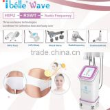 Pain Free Radio Frequency Plus High Frequency Machine Facial HIFU Slimming Machine By Biological Heat