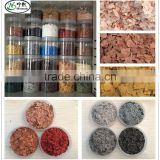 China Granite Flake Manufacturer polymer flakes rock chip for Epoxy floor paint concrete coating
