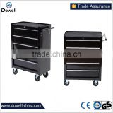 "24"" Wide 5 Drawer Rolling Tool CabinetTC4124 5 Drawer Intermediate Chest, Silver/Black Professional 5Drawer Rolling Cabinet"