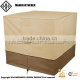 Heavy duty decorative outdoor square air conditioner cover