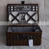 China factory supplier customized wicker picnic basket for 4 person picnic basket hamper