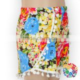soft material beautiful flower baby toddler kids summer shorts for children