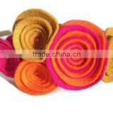 Hot new bestselling product wholesale alibaba handmade Felt flower hair headband for girls made in China